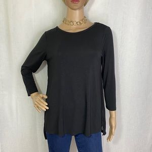 Michael Kors 3/4 Sleeve Top With Sheer Back Size S